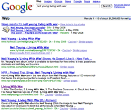 screenshot of google search