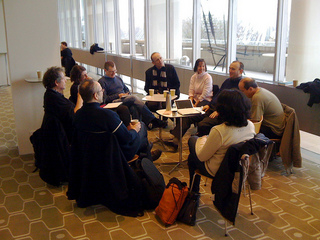Editorial meeting at the Royal Festival Hall