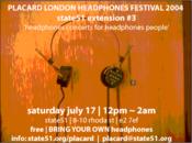 Placard festival flyer